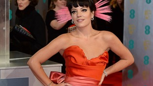 Singer Lily Allen is among the attendees of the British Academy Film Awards 2014.