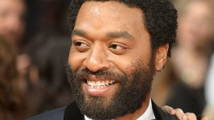 Chiwetel Ejiofor wins award for Best Actor for his role in 12 Years A Slave at the 2014 Baftas.