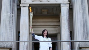 Bridget James with her torch