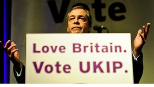 UKIP leader Nigel Farage during his speech at the UKIP Spring Conference.