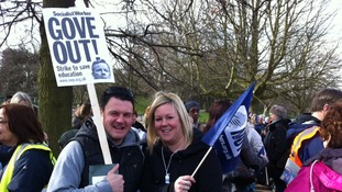 The strike is part of a row with the Government over pay, pensions and workload