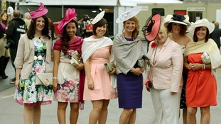 Pashminas and hats are just the ticket as Ladies Day gets underway.