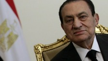 Hosni Mubarak in February 2011 before he ceded power.