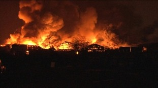 Police say the fire caused millions of pounds of damage