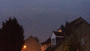 The looming storm in Colchester, Essex.
