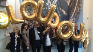 Lesley Griffiths (second left) at the opening of the new centre at Loudoun Square