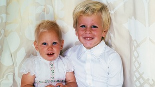 Zara Phillips with her brother Peter.