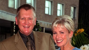 Television presenters Mike Smith and Sarah Greene.