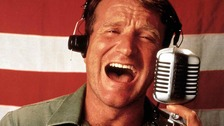 Robin Williams in his breakthrough role in Good Morning Vietnam.