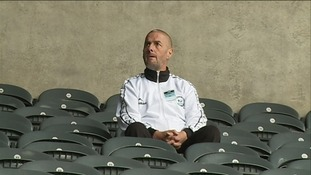 Barry Sweeney in his son Liam's seat