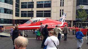 Red Arrow in Cardiff Bay