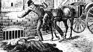 A newspaper picture depicting the death of Catherine Eddowes.