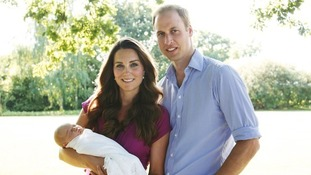 The Duke and Duchess of Cambridge with their first child Prince George.