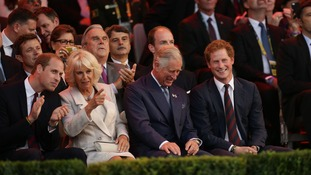 Prince Harry was joined by the Duke of Cambridge, the Duchess of Cornwall and the Prince of Wales at the opening ceremony.