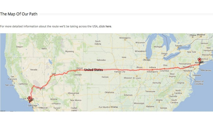 Us Map With Miles.Newcastle Lads Cycle 3000 Miles Across Usa For Charity Itv News