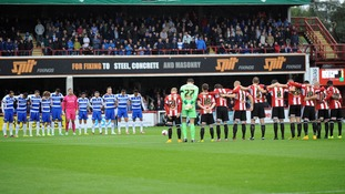 A minute's silence was held for Alice Gross before Brentford's Championship game with Reading following the murder of the local schoolgirl.
