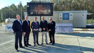 Newly-widened road is officially opened