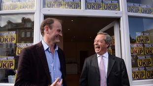 Douglas Carswell and Nigel Farage after the Clacton by-election.