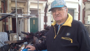 Bryan Nickless lost most of his belongings in the fire which gutted his Bristol home