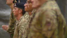 Soldiers received medals on return from Helmand Province in Afghanistan.