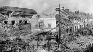 London properties damaged during the Blitz in 1940