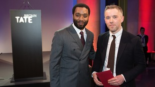 Chiwetel Ejiofor (left) with the Irish-born artist Duncan Campbell who has won this year's Turner Prize for his series of films called It for Others