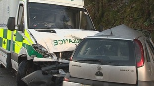 Fatal crash involving ambulance
