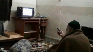 A grab from a video found in Osama Bin Laden's compound in Pakistan.