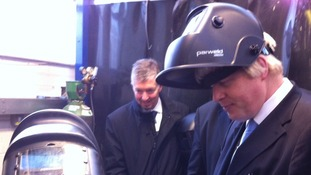 The Mayor of London gives welding a go
