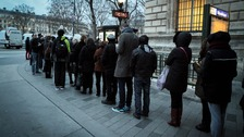 People queued up from 7am outside newsagents in France when the latest issue of the newspaper was published.