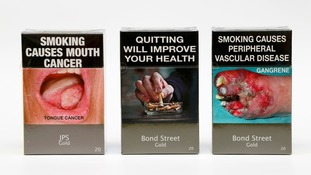 Mandatory packaging for cigarettes sold in Australia