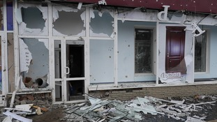 The shelling has destroyed many buildings in the region