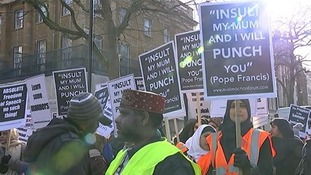 Around 400 Derby Muslims travelled to London to join the protest.
