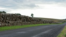 A section of Hadrian's Wall near the Birdoswald Roman Fort.