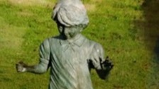 The statue was presentend to Burhill County Primary School in memory of former student Sarah Payne