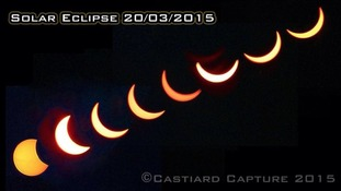 A timeline of the eclipse taken in Gloucestershire