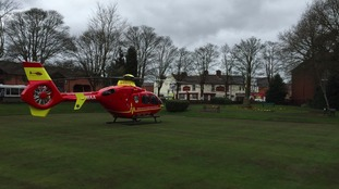 He was airlifted to hospital