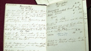Nurse Florence Nightingale's diary written 150 years ago