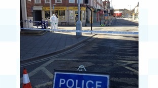Parts of Clacton cordoned off.
