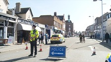 Police cordoned off a large section of Clacton following the fatal stabbing on Monday.