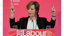 Delia Smith at a Labour party event in Brighton.
