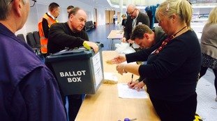 Ballot boxes arrive in Derby