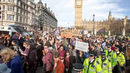 Arrests at anti-austerity protest outside Downing Street