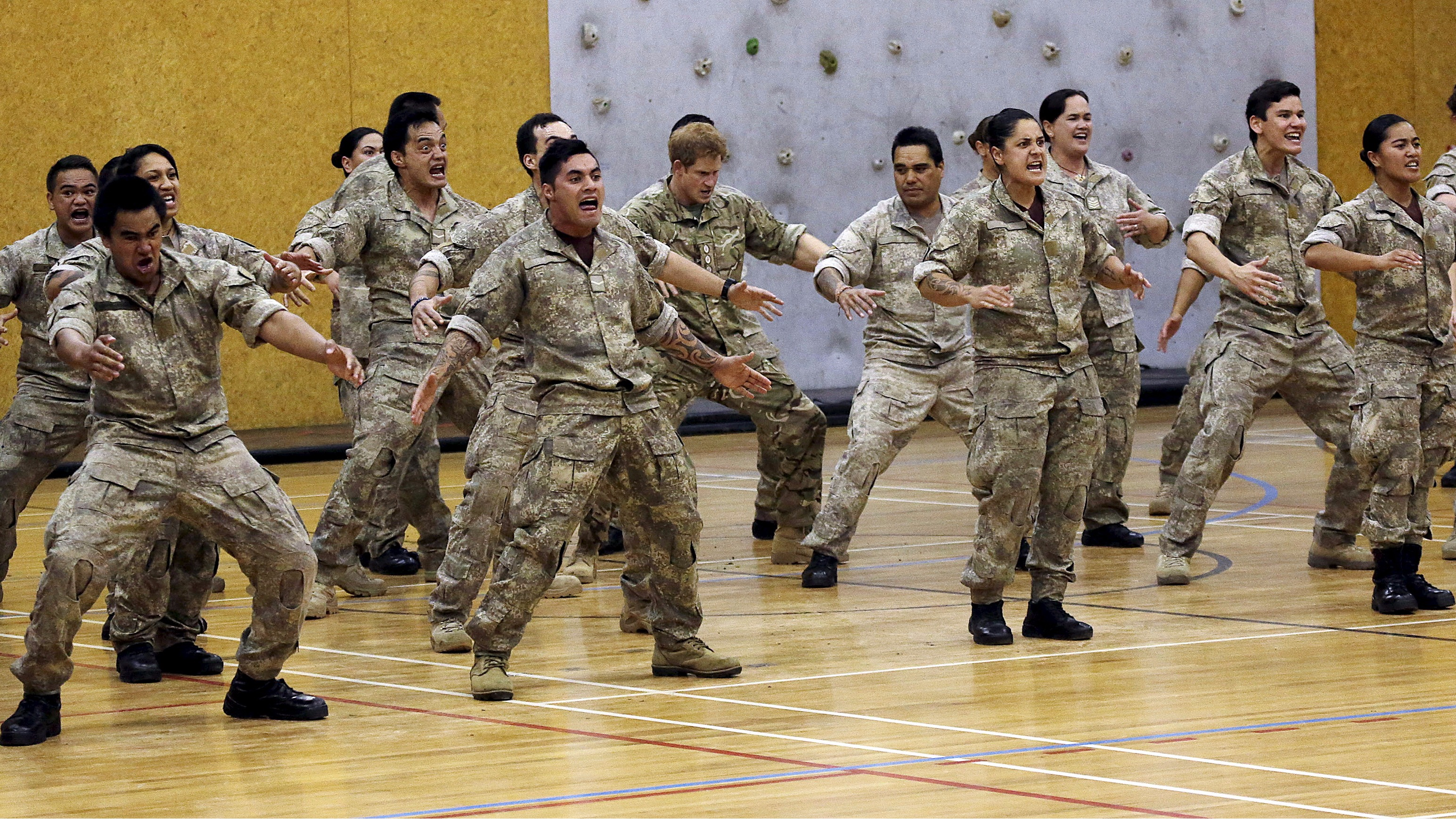 Prince Harry Performs The Haka With New Zealand Army Itv
