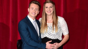 Rebecca Adlington and Harry Needs at the British Soap Awards last month.