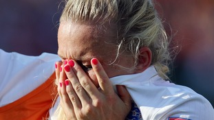 Laura Bassett was left distraught after scoring an own goal during injury time