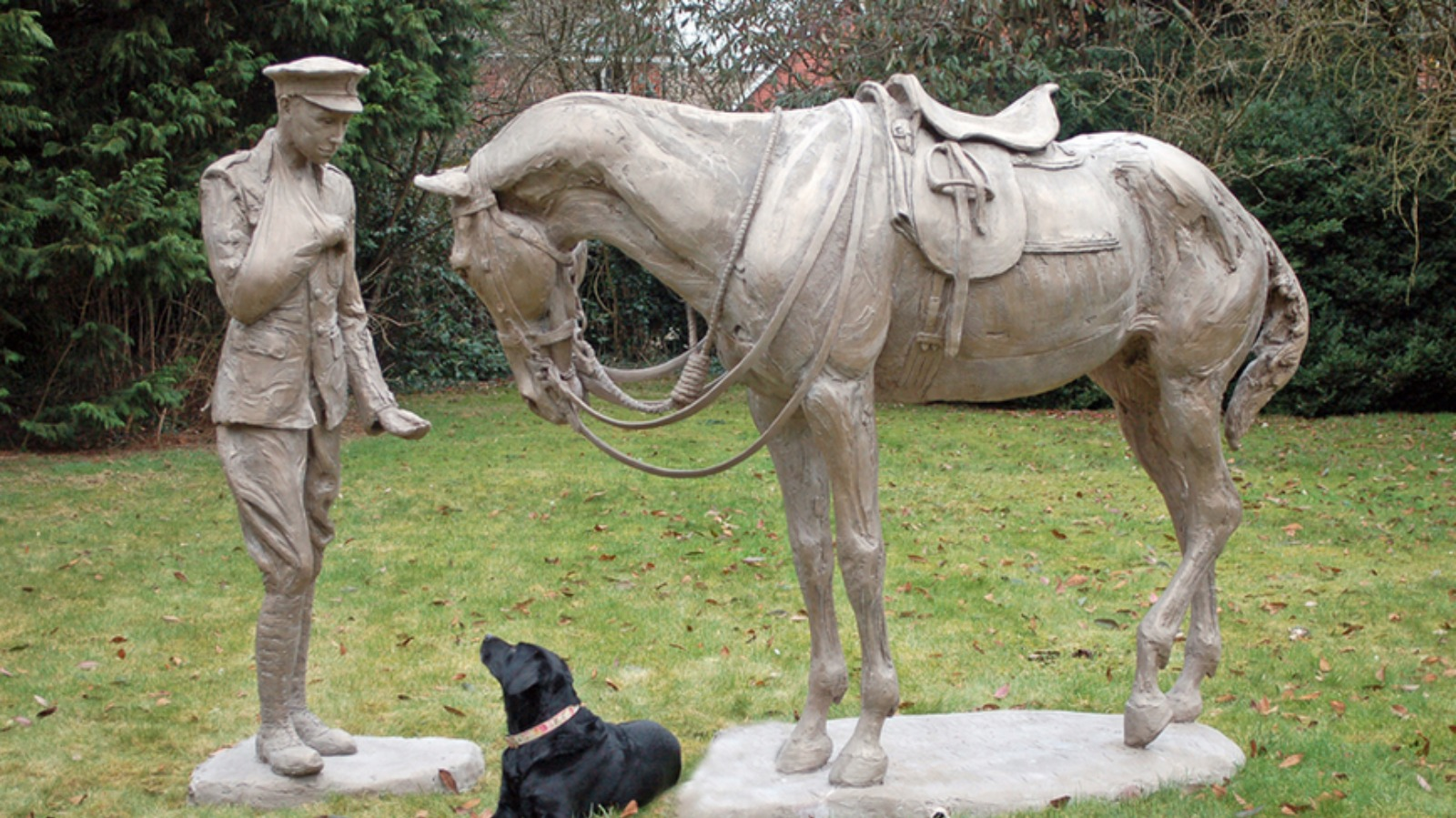 statue unveiled for unsung romsey war horses