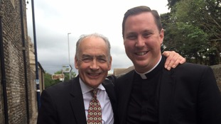 Me with vicar Marcus Holder.