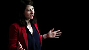 Liz Kendall takes part in a Labour Party leadership hustings in Cheshire