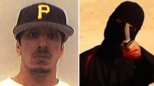 Then and now: Emwazi as a student (left), and as Jihadi John (right)